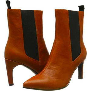 Urban Outfitters Leather Chelsea Heeled Booties